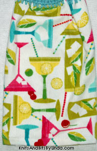 summer drink glasses on hand towel