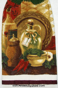 tuscan oil and vinegar kitchen towel