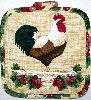Rooster and grapes pot holder
