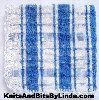 blue plaid dish cloth