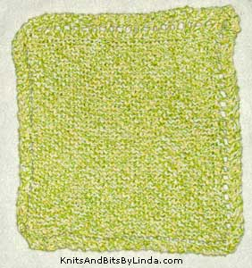 green dream twist cotton dish cloth
