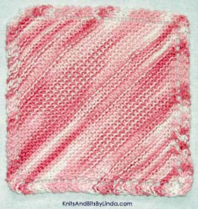 strawberry ombre knitted cotton dish cloth