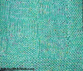close up of green basket weave lap throw