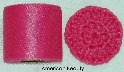 American Beauty Pink netting spool