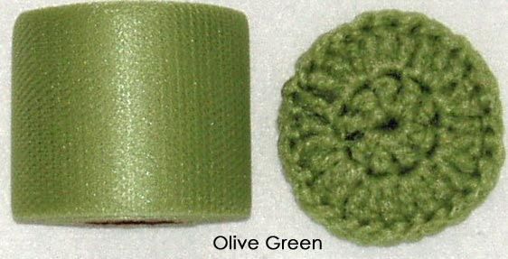 olive green nylon netting fabric