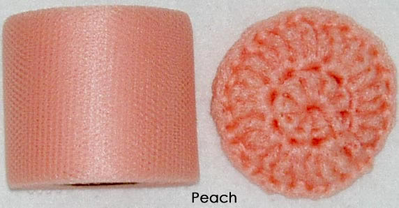 peach nylon netting fabric