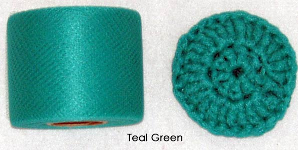 teal nylon netting fabric