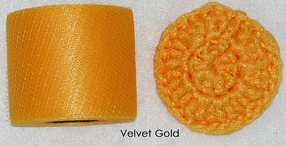 velvet gold nylon netting spools